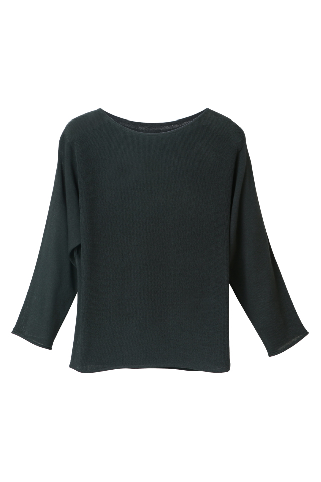 Stitch Blocking Batwing Jungle Knitted Top