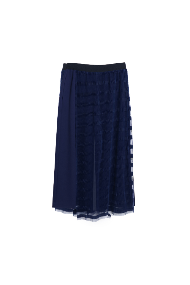 Striped Tulle Navy Layer Culottes