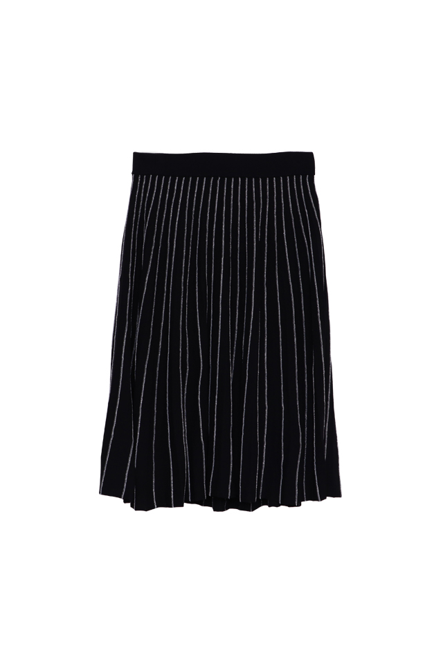 Lurex Knitted Black Skirt