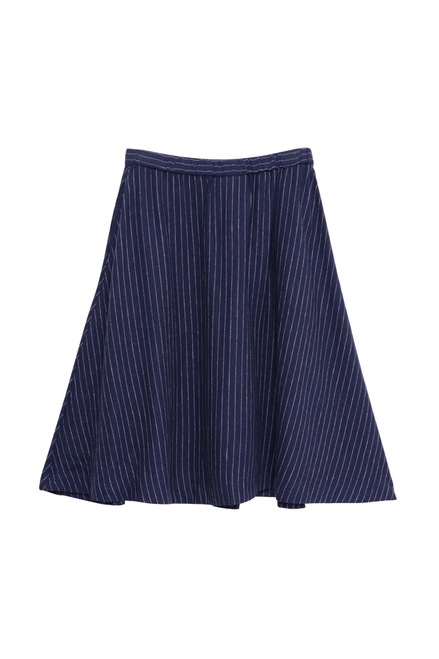 Flared Navy Skirt