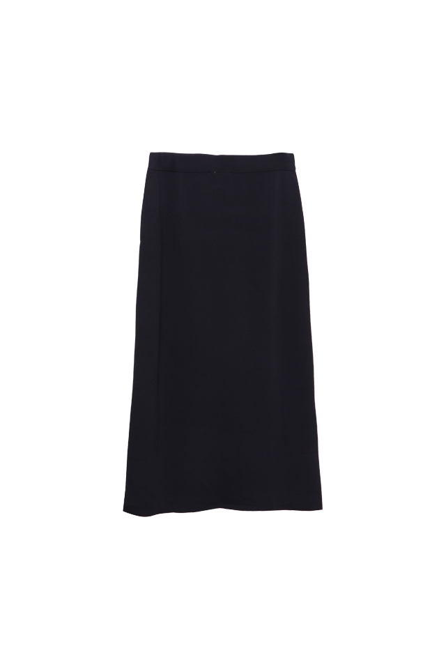 Knitted Black Pencil Skirt