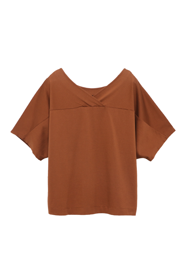 Two Way Batwing Ginger Blouse Top