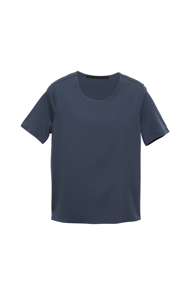Basic Tee Dark Slate Cotton Top