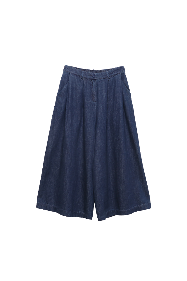 Pleated Denim Eclipse Pants Bottom