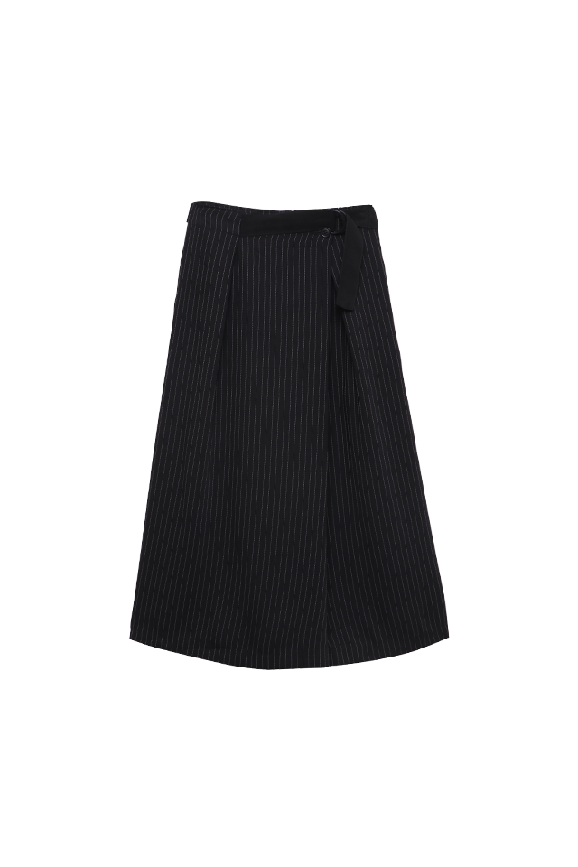 Wrap Culottes Black Pants Bottom