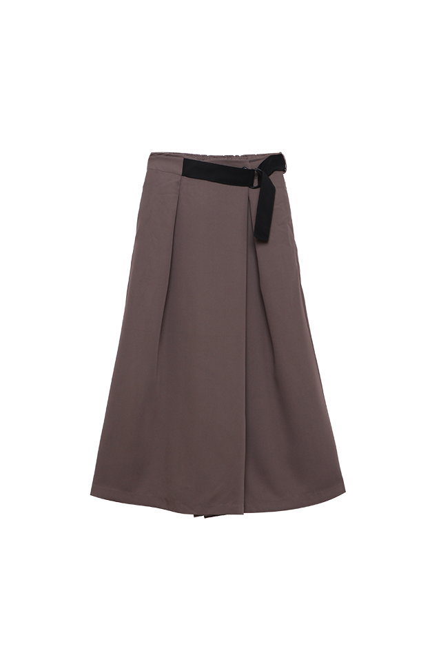 Wrap Culottes Tan Pants Bottom