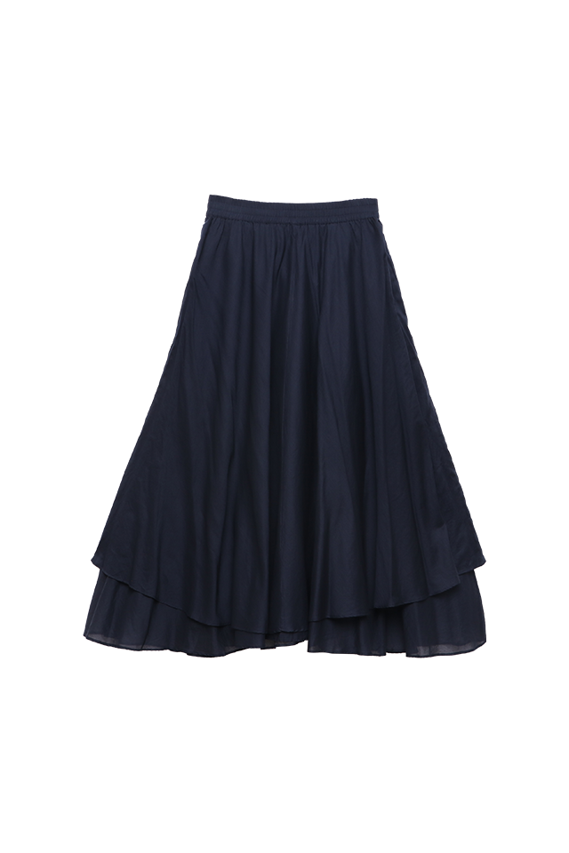 Layered Atlantic Flare Skirt